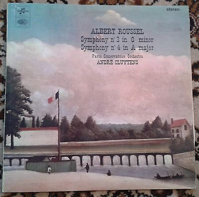 ALBERT ROUSSEL -Symphony No. 3/No. 4- COLUMBIA Red Label SAX 5251 Clutyens