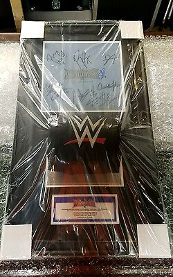 Wwe Wrestlemania 32 Signed Autographed Ring Canvas & Event Used Turnbuckle