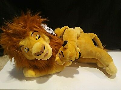Disney Parks Lion King MUFASA  And Little SIMBA  plush NWT