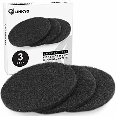 LINKYO Compost Bin Filters Refill Set - Replacement Set of 3