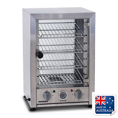 Hot Food Display Warmer 80 Pie Square Front Glass Roband PA80L Canteen Equipment