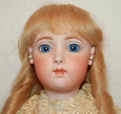 """Opal Butler French Reproduction Jumeau Doll Bisque 19"""" Jointed Composite Htf"""
