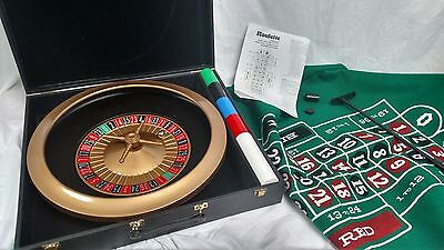 "16"" Roulette Wheel  and Game set  Complete Game set with Case"