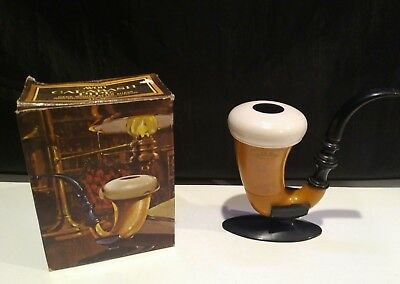 Vintage Avon Calabash Pipe Deep Woods Aftershave with Box
