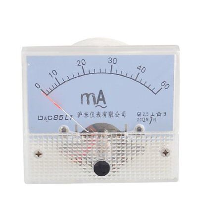 uxcell Screw Mounted Analog AC 0-50MA Scale Range Milliamp Panel Meter