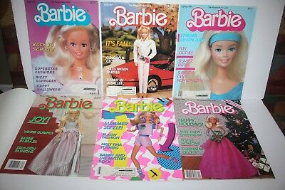 Vintage 1980's Barbie Magazine For Girls Barbie Sticker Album Barbie Crossword