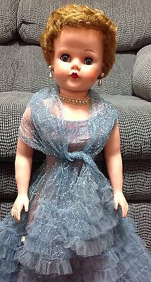 """Deluxe Reading All Rubber Doll With Original Outfit - 28"""" All Rubber From 1950's"""