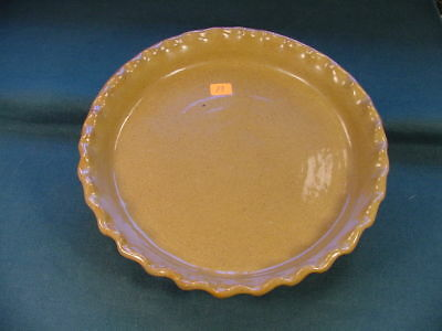 Vintage Cornelison Pottery Bybee Kentucky Hand Made Crimp Edge Pie Plate no 83