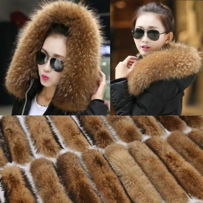 Lady Women's Fur Collar For Coat Jacket Hooded Scarf Shawl Wrap Winter Gifts