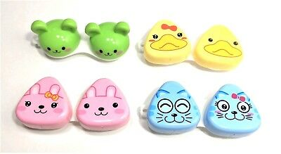 Cute Contact Lens Case Storage Soaking Holder Washer Cleaner Travel