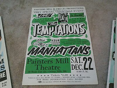 The Temptations  Manhattans  Motown  Boxing Style   Concert Poster