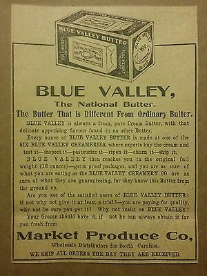 1911 Blue Valley National Butter Ad