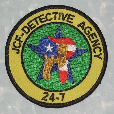 """JCF Detective Agency 24-7 Patch - Puerto Rico  - 3 1/2"""" x 3 1/2"""""""
