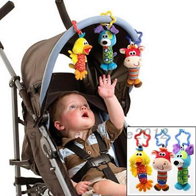 Animal Modeling Hand Rattles Baby Children Toy Stick Hanging Bell