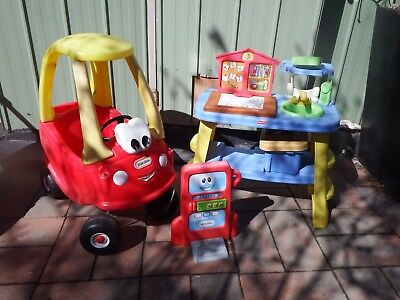 Little Tikes Cosy Coupe Car & Fisher Price  Bench Good Condition