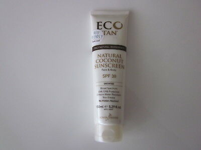 Eco Tan - Natural Coconut Sunscreen Face & Body - Untinted - Brand New!