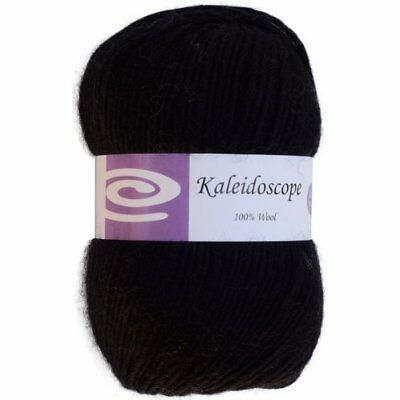Elegant Yarns Kaleidoscope Yarn, Charcoal Black