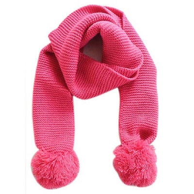 Baby Neck Winter Warm Solid Color Scarf Boy Girl Knitted Scarf (pink) X2T6