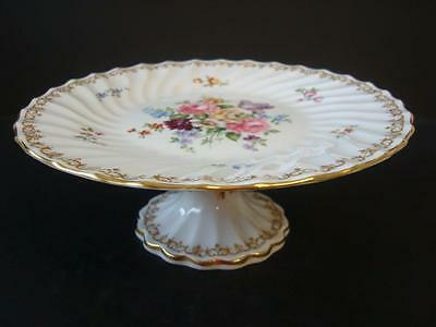 Crown Staffordshire China Englands Bouquet Pedestal Cake Stand