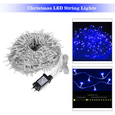 55M 250LED Christmas Tree String Lights Fairy Wedding Party Garden Outdoor Blue