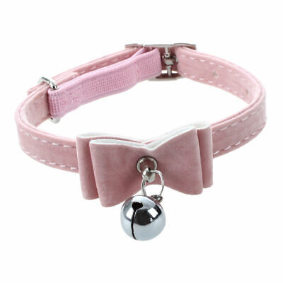 Pet Cat Kitten Collar Adjustable Safety Buckle Neck Strap With Bell X7F8