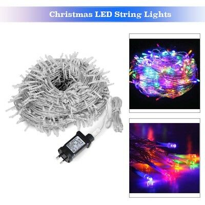 55M 250LED Christmas String Lights Fairy Wedding Party Garden Outdoor Colourful