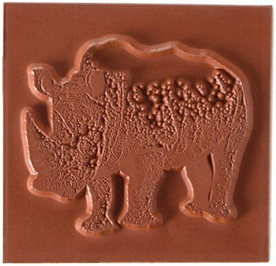 Deep Red Stamps Rhinoceros Rubber Stamp