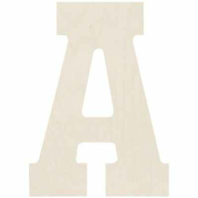 """Baltic Birch Collegiate Font Letters & Numbers 13.5""""-A"""