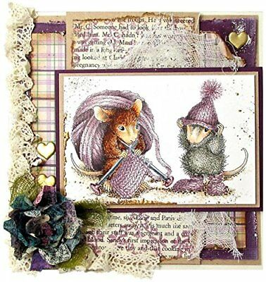 """Stampendous """"Knit Gift"""" Cling Rubber Stamp"""