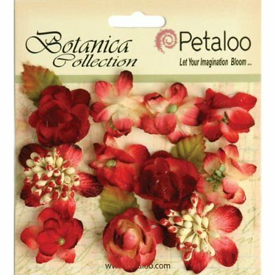 Petaloo Botanica Minis Decorative Flower, 1-Inch, Red,