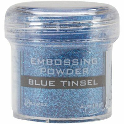 Ranger Embossing Powder, 1-Ounce Jar, Blue Tinsel