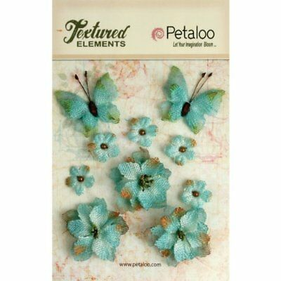 Petaloo Textured Elements Burlap Decorative Flowers and