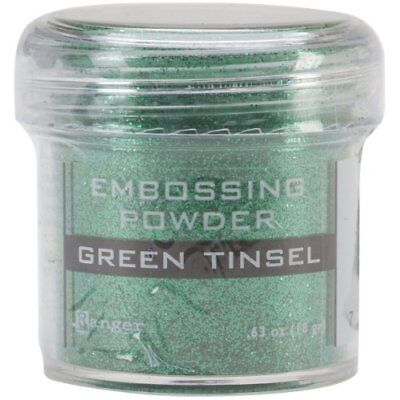 Ranger Embossing Powder, 1-Ounce Jar, Green Tinsel