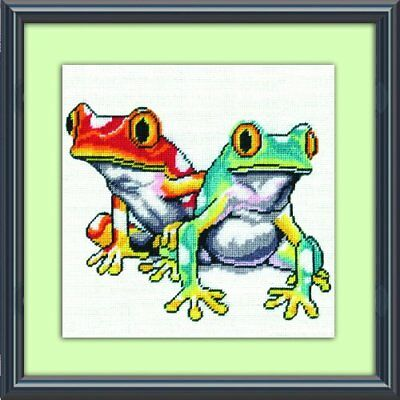 Tobin DW2519 Needlepoint Kit, 10 by 10-Inch, Frogs