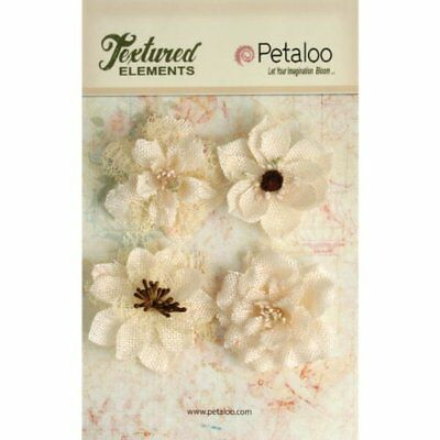 Petaloo Textured Elements Burlap Blossoms, 2.25-Inch, I
