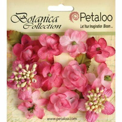 Petaloo Botanica Minis Decorative Flower, 1-Inch, Fuchs