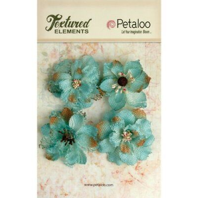 Petaloo Textured Elements Burlap Blossoms, 2.25-Inch, T