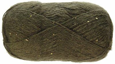 Spinrite Lace Sequin Yarn, Chocolate Diamond