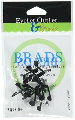 Eyelet Outlet Shape Brads, Music Notes, 12-Pack