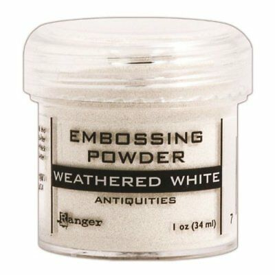 Ranger Embossing Powder, 1-Ounce Jar, Weathered White