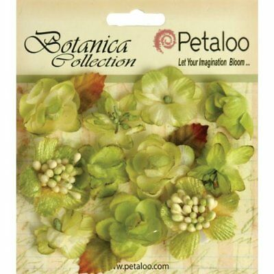 Petaloo Botanica Minis Decorative Flower, 1-Inch, Pista