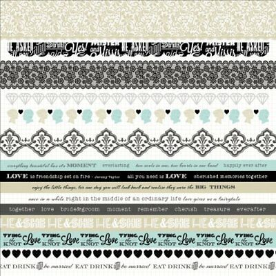 """Something Blue Cardstock Stickers 12""""X12""""-"""