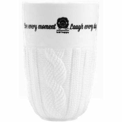Knit Happy Tumbler 13oz-Cable Knit