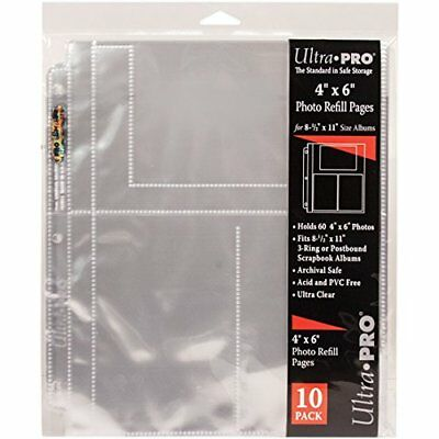 "Ultra Pro 8.5""X11"" Refill Pages -60 Pockets"