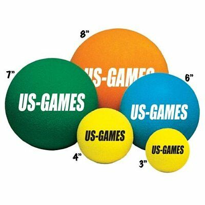 US Games Uncoated Economy Foam Balls (8-Inch)