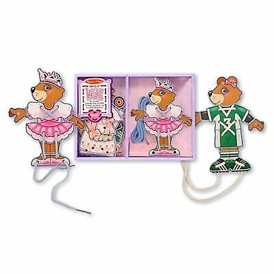 Melissa & Doug Deluxe Dress-Up Lacing Wooden Bear Play