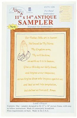 Jack Dempsey Stamped Sampler, 11 by 14-Inch, Lord's Pra