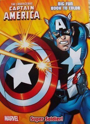 Captain America Coloring & Activity book ~ Cover Art Va