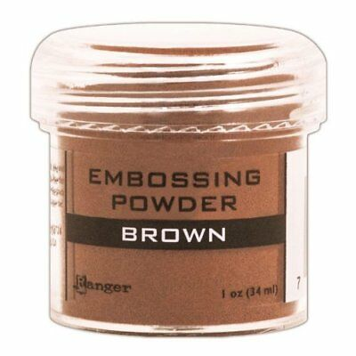 Ranger Embossing Powder, 1-Ounce Jar, Brown