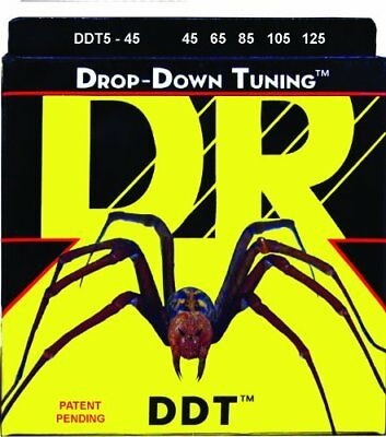 DR Strings DDT5-45 Stainless Steel Bass Guitar Strings,